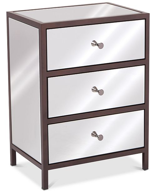 Furniture Iven 3-Drawer Cabinet, Quick Ship