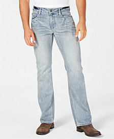 I.N.C. Men's Bootcut Stretch Jeans, Created for Macy's