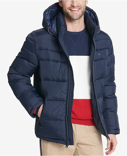 257d18d8375 Tommy Hilfiger Men s Big   Tall Quilted Hooded Puffer Jacket ...