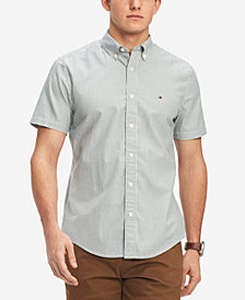 Tommy Hilfiger Men's Micro Stripe Oxford Classic Fit Shirt, Created for Macy's