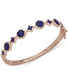Ivanka Trump Rose Gold-Tone Stone Bangle Bracelet