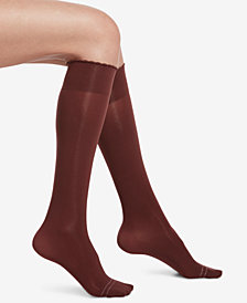 HUE® Compression Opaque Knee-High Socks