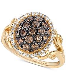 Le Vian Chocolatier® Diamond Cluster Ring (1 ct. t.w.) in 14k Gold