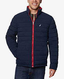 Nautica Men's Quilted Stretch Reversible Jacket