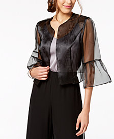 Alex Evenings Sheer Jacket