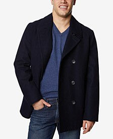 Men's Three-Button Pea Coat