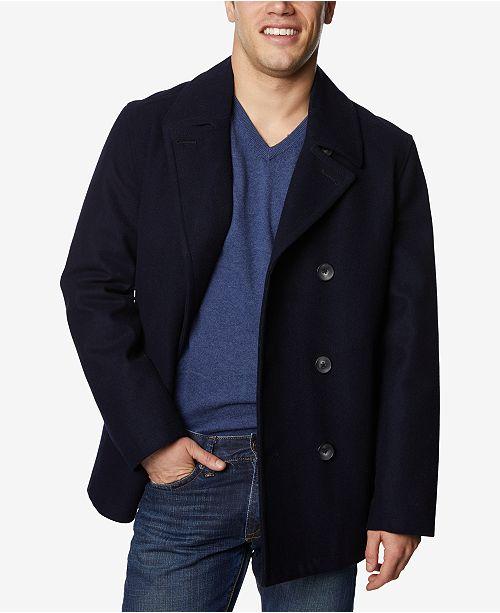 usa billig försäljning exklusiva erbjudanden exklusiva skor Nautica Men's Three-Button Pea Coat & Reviews - Coats & Jackets ...