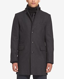 Sean John Men's Wool Coat with Bib