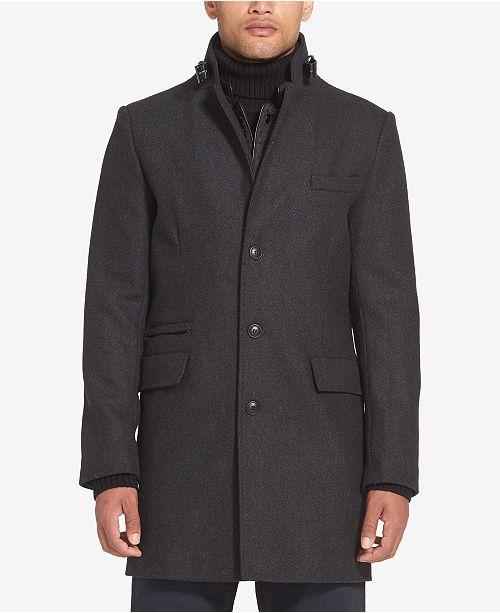 Sean John Men's Wool Coat with Bib
