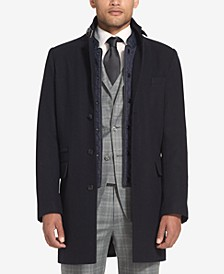 Men's Wool Coat with Bib
