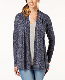 Karen Scott Draped Open-Front Cardigan, Created for Macy's