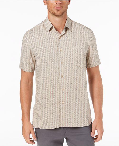 Tasso Elba Men's Houndstile Print Shirt