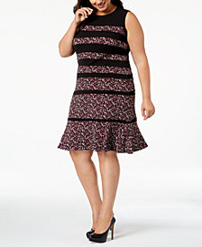 MICHAEL Michael Kors Plus Size Printed Paneled Dress