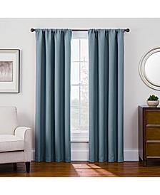"Antique Satin 52"" x 95"" Room-Darkening Rod Pocket Window Panel"