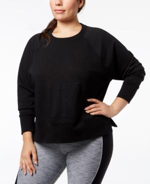 Nike Plus Size Embossed-Logo Dri-fit Fleece Sweatshirt
