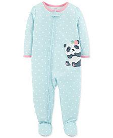 Carter's Baby Girls Panda Footed Pajamas