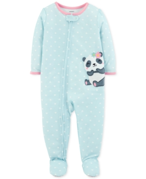 Carters Baby Girls Panda Footed Pajamas