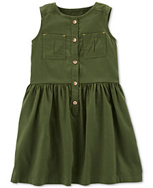 Carter's Toddler Girls Sleeveless Pocket Dress