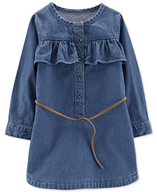 Carter's Little & Big Girls Belted Cotton Denim Shirtdress