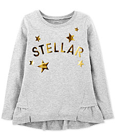 Carter's Little & Big Girls Stellar Graphic Cotton Shirt