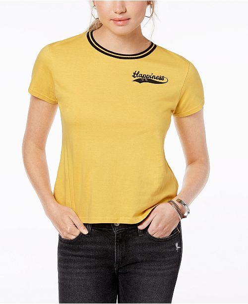 5ca3808e8 Freeze 24-7 Juniors' Cotton Snoopy Graphic T-Shirt & Reviews - Tops ...