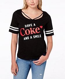 Freeze 24-7 Juniors' Cotton Coca-Cola Graphic T-Shirt