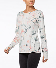 Ideology Floral-Print V-Back Top, Created for Macy's
