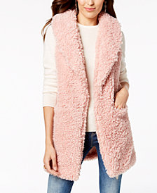 Betsey Johnson Teddy Faux-Fur Vest