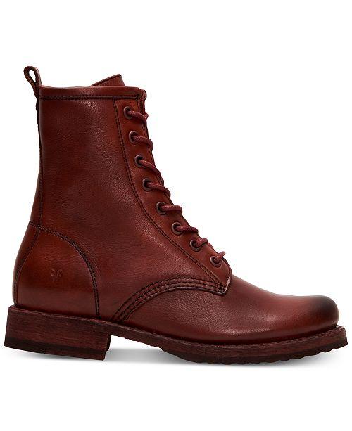 d5bae77b9 Frye Women s Veronica Combat Booties   Reviews - Boots - Shoes - Macy s