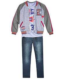 Epic Threads Big Boys Varsity T-Shirt, Jacket & Jeans Separates, Created for Macy's
