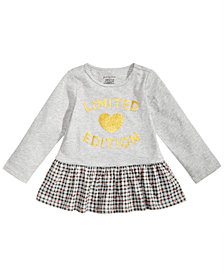 First Impressions Toddler Girls Limited Edition Peplum-Hem Cotton Top, Created for Macy's