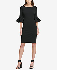 DKNY Bell-Sleeve Sheath Dress, Created for Macy's