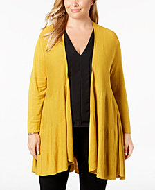 Alfani Plus Size Tiered Open-Front Cardigan, Created for Macy's
