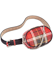 Steve Madden Chain-Swag Plaid Fanny Pack
