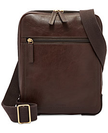 Fossil Men's Haskel Leather Courier Case