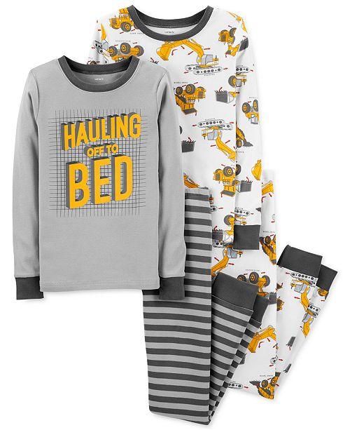 f94b63a00d71 Carter s Little   Big Boys 4-Pc. Construction Cotton Pajama Set ...