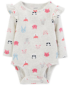 Carter's Baby Girls Forest Animal-Print Cotton Bodysuit