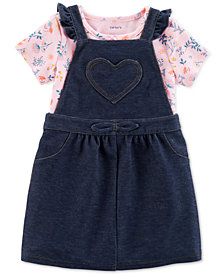 Carter's Baby Girls 2-Pc. Denim Jumper Set