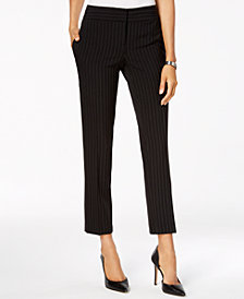 Kasper  Pinstriped Slim-Leg Pants, Regular & Petite Sizes