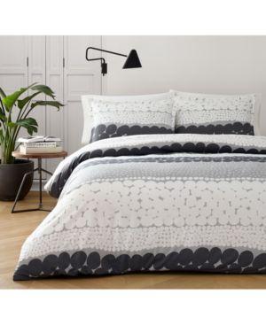 Marimekko Jurmo Dark Shadow Gray 2-Pc. Twin Comforter Set Bedding 6684203
