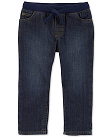 Carter's Toddler Boys Pull-On Straight-Fit Cotton Jeans