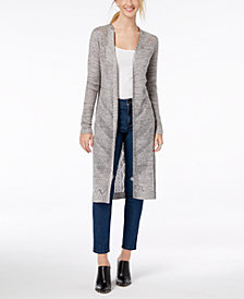 Hooked Up by IOT Juniors' Cotton Duster Cardigan