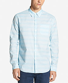 DKNY Men's Space-Dyed Cotton Striped Shirt