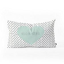 Deny Designs Allyson Johnson Hello Beautiful Heart Oblong Throw Pillow
