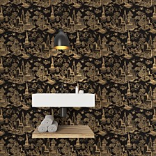 Genevieve Gorder for Tempaper New York Toile Self-Adhesive Wallpaper