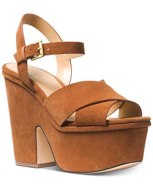 e6a65da1a984 Michael Kors Divia Wedge Sandals   Reviews - Sandals   Flip Flops ...