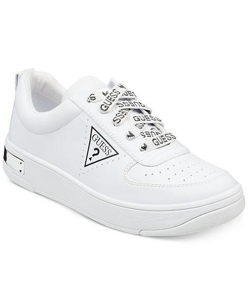 e6dc54e824e7 GUESS Women s Hype Lace Up Sneakers   Reviews - Sneakers ...