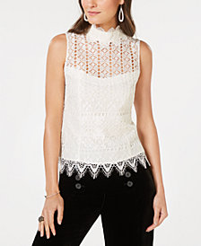 Nanette Lepore Lace Top, Created for Macy's