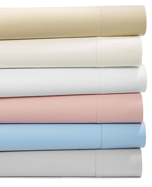 Martha Stewart Collection Luxury Flannel Sheet Set Collection, Created for Macy's
