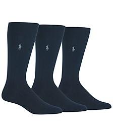Men's 3-Pk. Super-Soft Ribbed Dress Socks